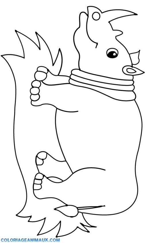 Dessin gratuit imprimer rhinoceros - Rhinoceros dessin ...
