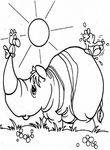 coloriage � dessiner rhinoceros