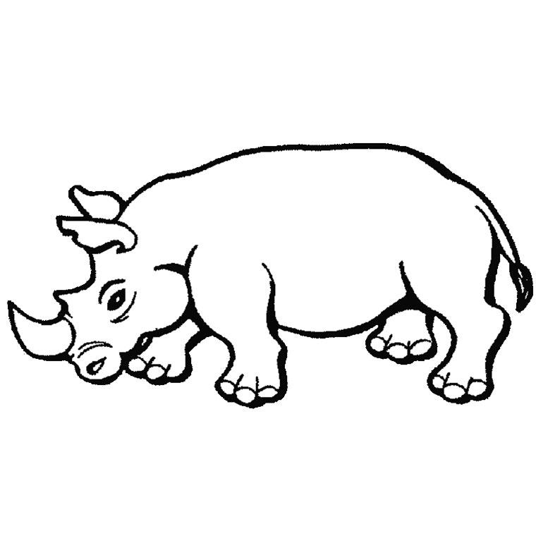 coloriage à imprimer rhinoceros