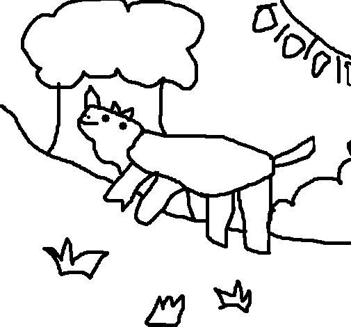 dessin � colorier d'un rhinoc�ros