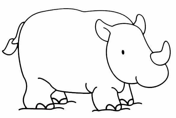 coloriage � dessiner de rhinoceros