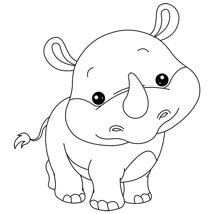 118 dessins de coloriage rhinoc ros imprimer. Black Bedroom Furniture Sets. Home Design Ideas