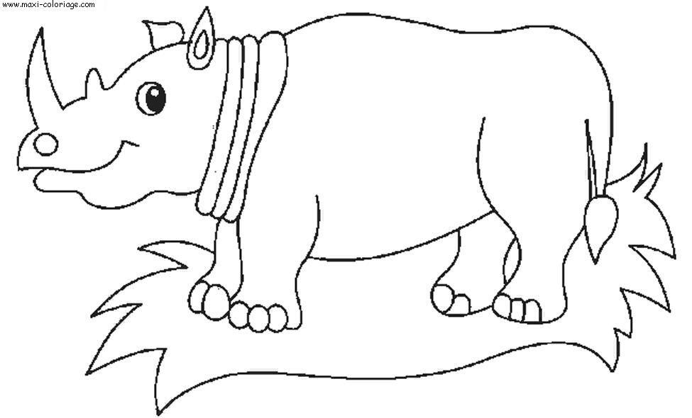 coloriage � dessiner rhinoc�ros en ligne