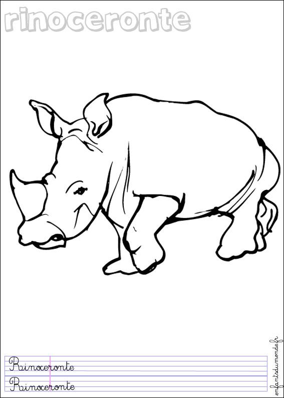 118 Dessins De Coloriage Rhinoceros A Imprimer