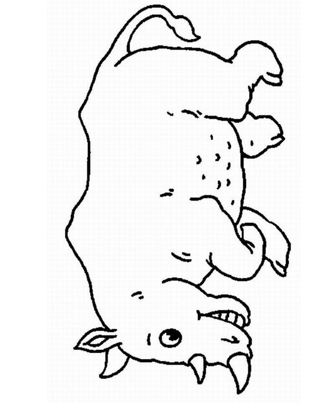 Coloriage En Ligne Rhinoceros.Dessin A Colorier Rhinoceros