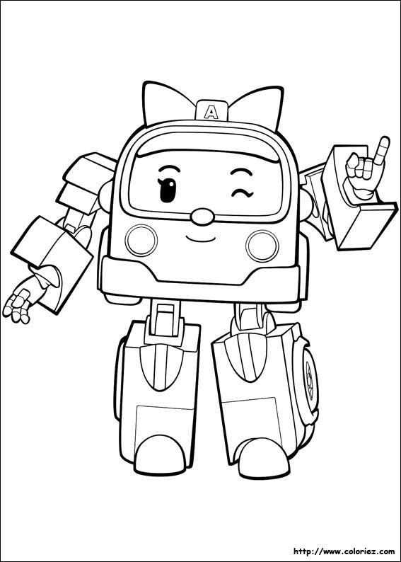 9 dessins de coloriage robocar poli a colorier imprimer - Buzz a colorier ...