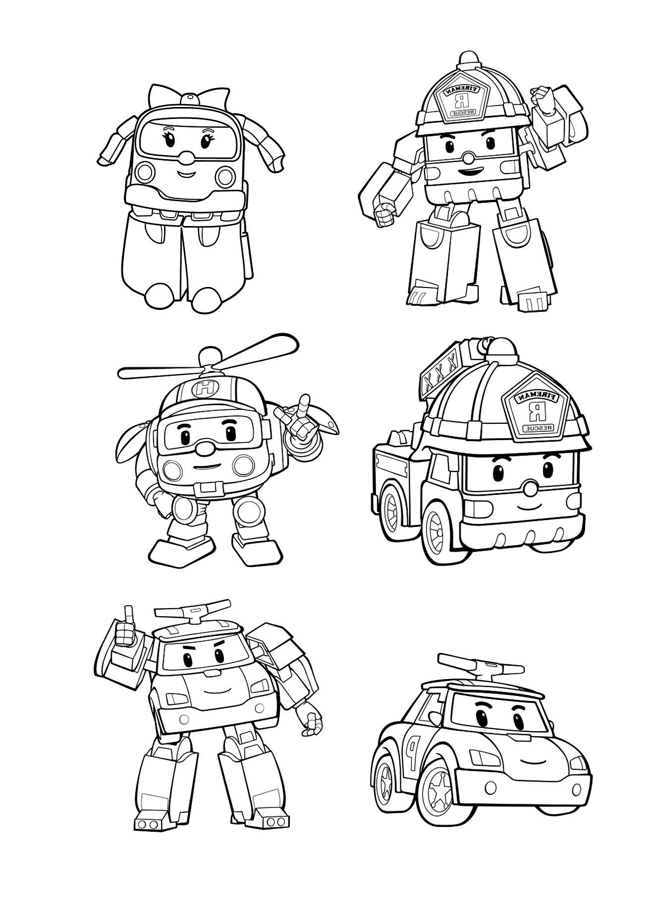 3 dessins de coloriage robocar poli gratuit imprimer - Coloriage de cars gratuit ...