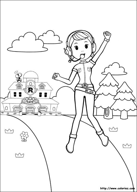 8 dessins de coloriage Robocar Poli Julie \u00e0 imprimer