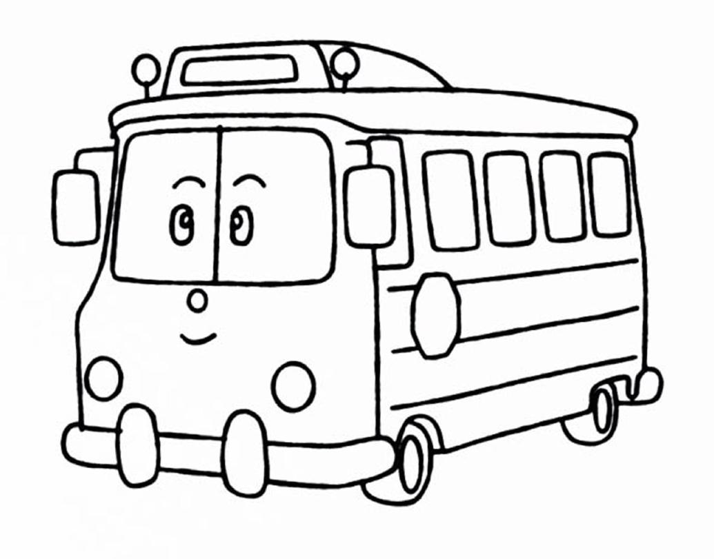 10 dessins de coloriage robocar poli totobus imprimer - Dessin anime robocar poli ...