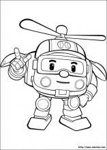 coloriage à dessiner taco robocar poli