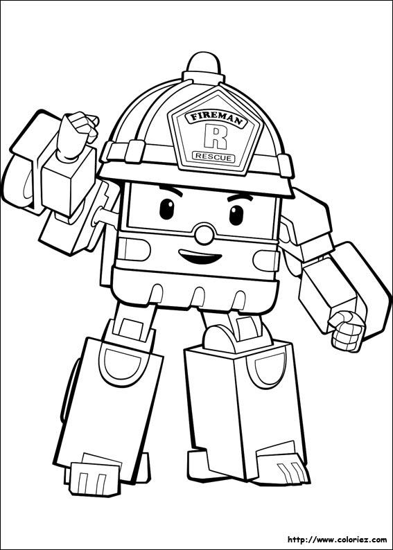 Dessin a colorier robocar poli - Dessin robocar poli ...