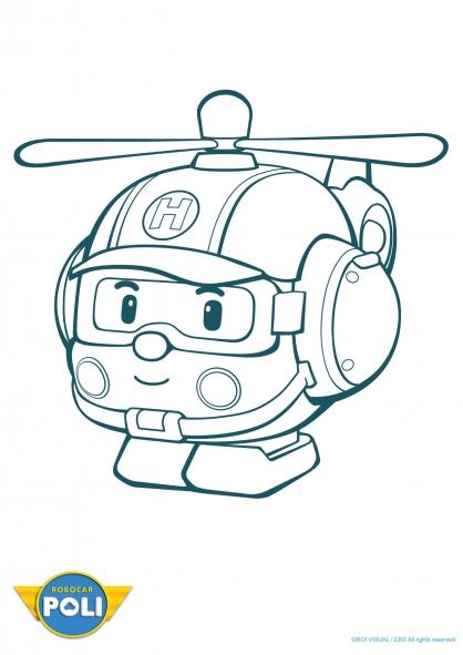 dessin caserne robocar poli