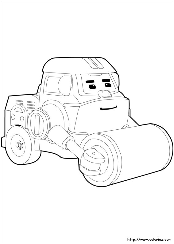 jeux coloriage à dessiner robocar poli