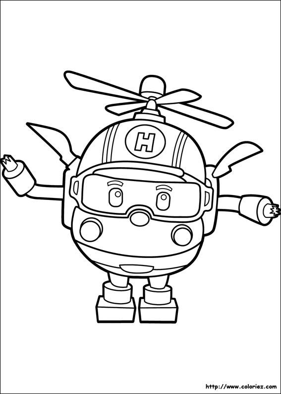 dessin a imprimer robocar poli gratuit