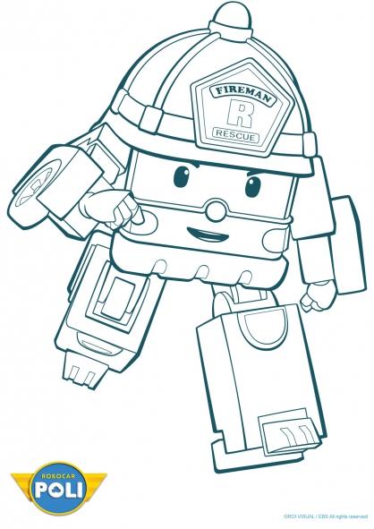 dessin robocar poli en ligne