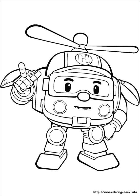 Dessin colorier de robocar poli - Dessin anime de robocar poli en francais ...