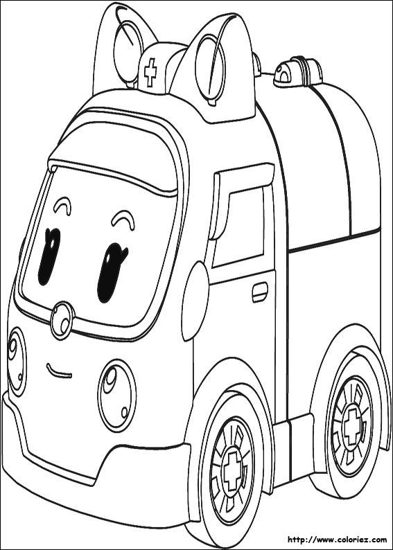 imprimer dessin robocar poli
