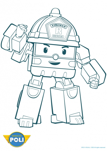 coloriage à dessiner à imprimer robocar poli