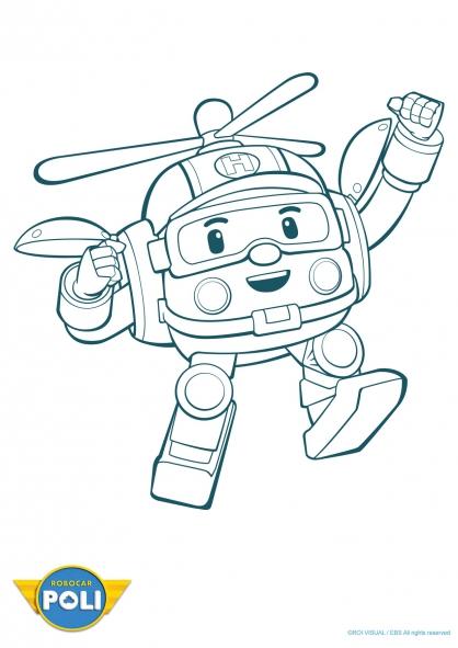 coloriage à dessiner a imprimer robocar poli gratuit