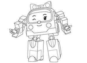 dessin robocar poli en ligne gratuit