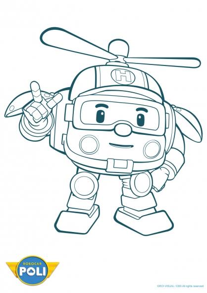 coloriage � dessiner a colorier robocar poli