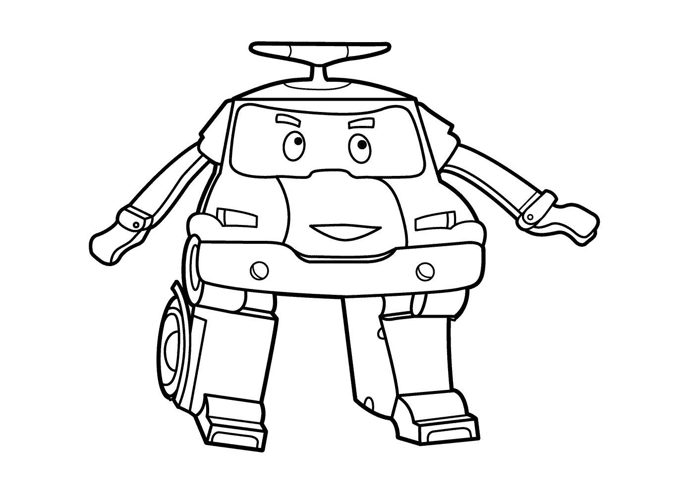 dessin de robocar poli a imprimer gratuit