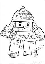 dessin à colorier a imprimer robocar poli gratuit