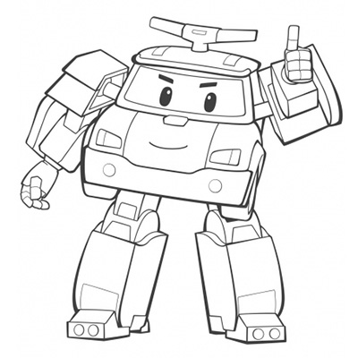 Coloriage dessiner robocar poli gratuit - Robocar poli jeux gratuit ...