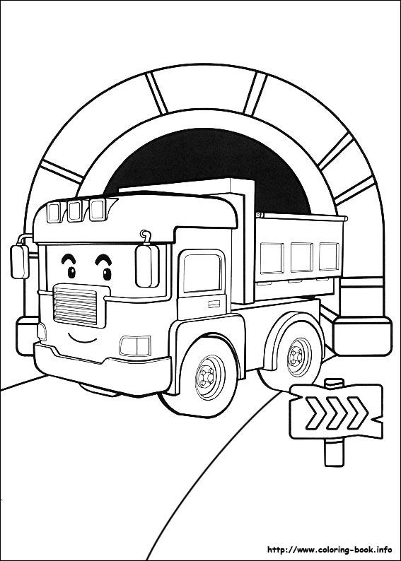 dessin à colorier de robocar poli