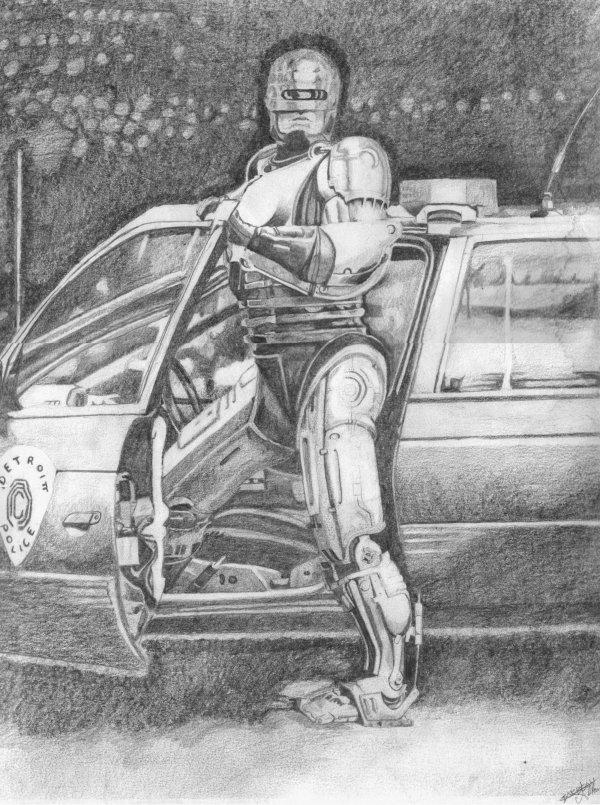 dessin de robocop