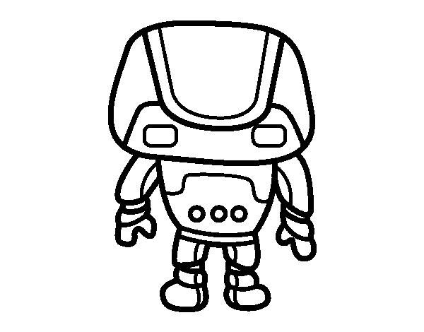 dessin robot poli