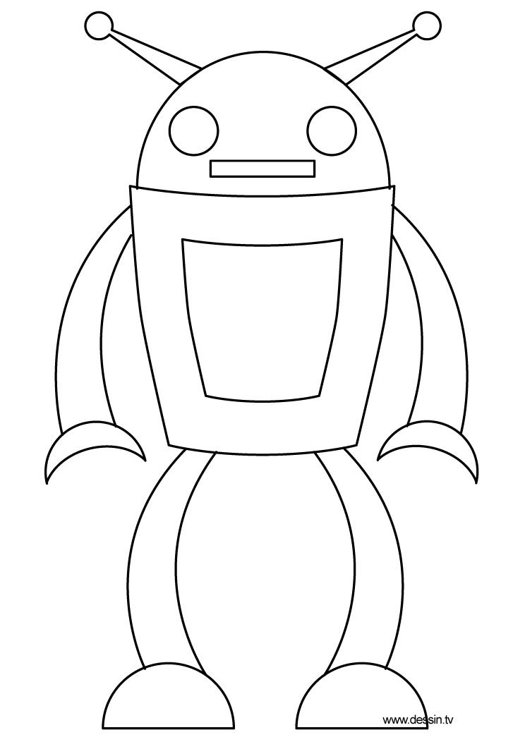 dessin robot car poli