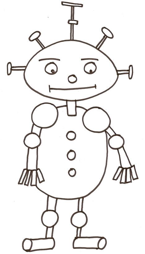 coloriage � dessiner robot en ligne