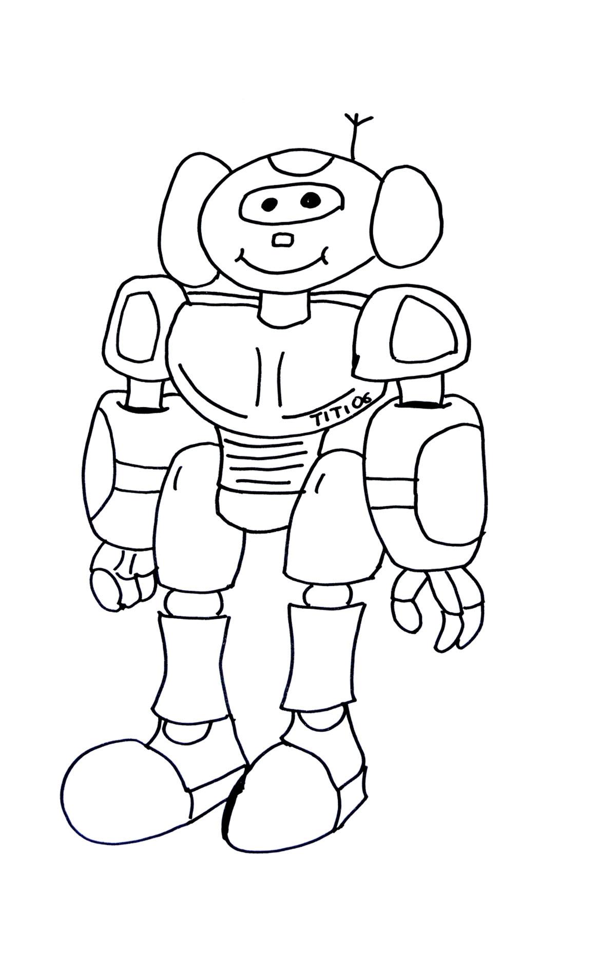 coloriage à dessiner robot en ligne gratuit