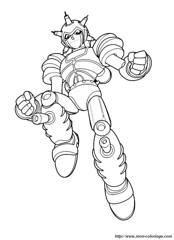 jeux de dessin à colorier de robotboy