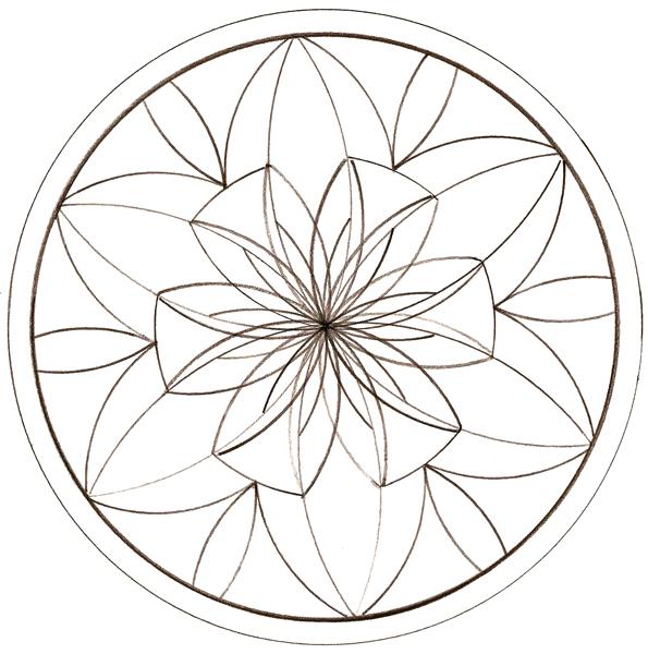 coloriage à dessiner rosace adulte