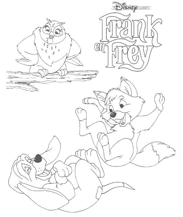 coloriage à dessiner gratuit rox et rouky