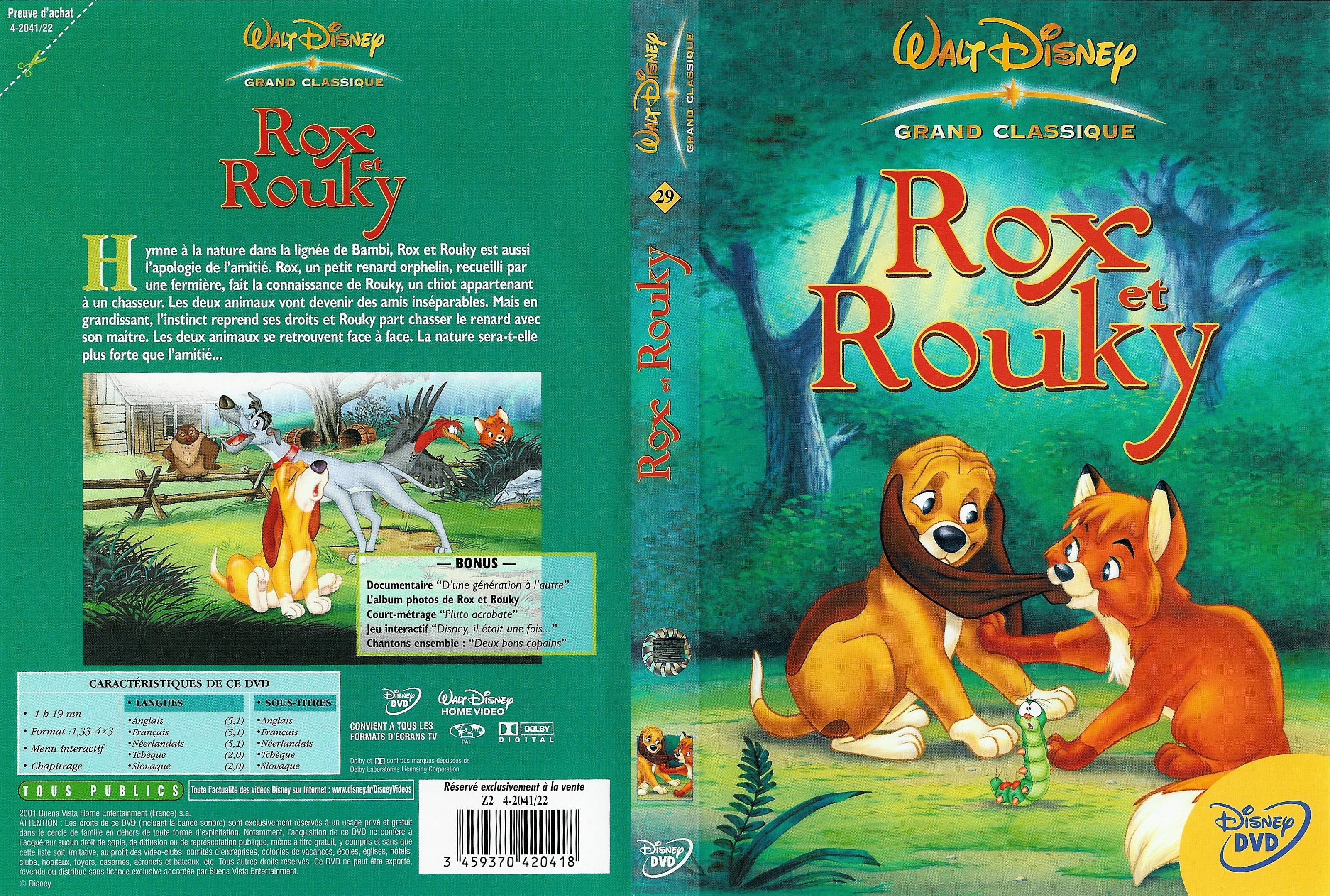 118 dessins de coloriage Rox et Rouky à imprimer