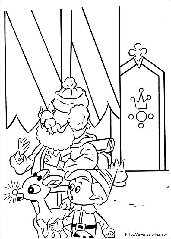 dessin rudolph renne nez rouge