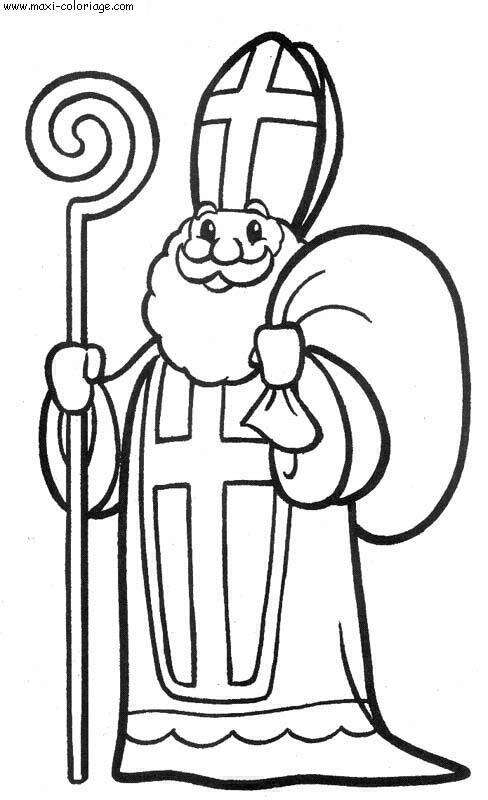 Coloriage crosse saint nicolas - Dessin de saint ...