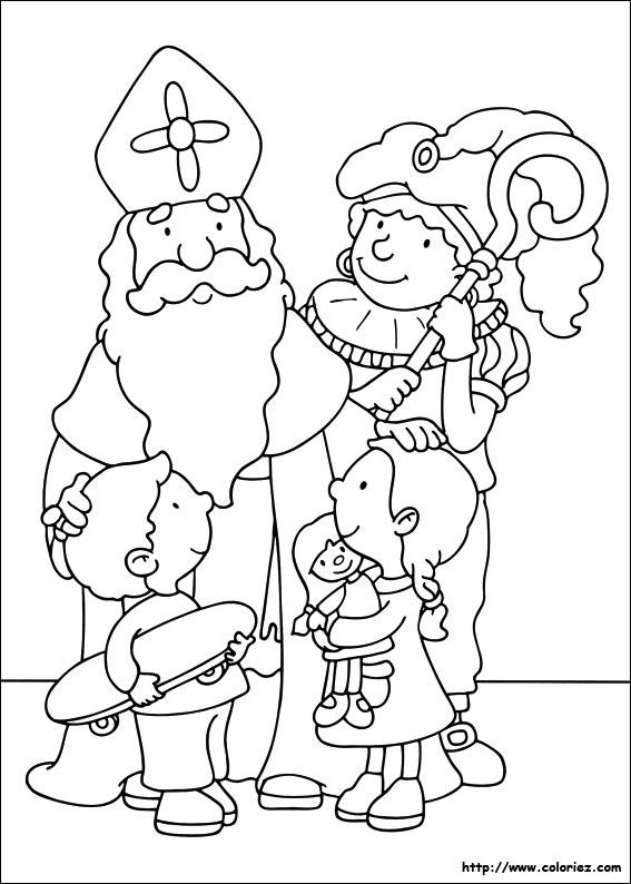 dessin dessin à colorier saint nicolas