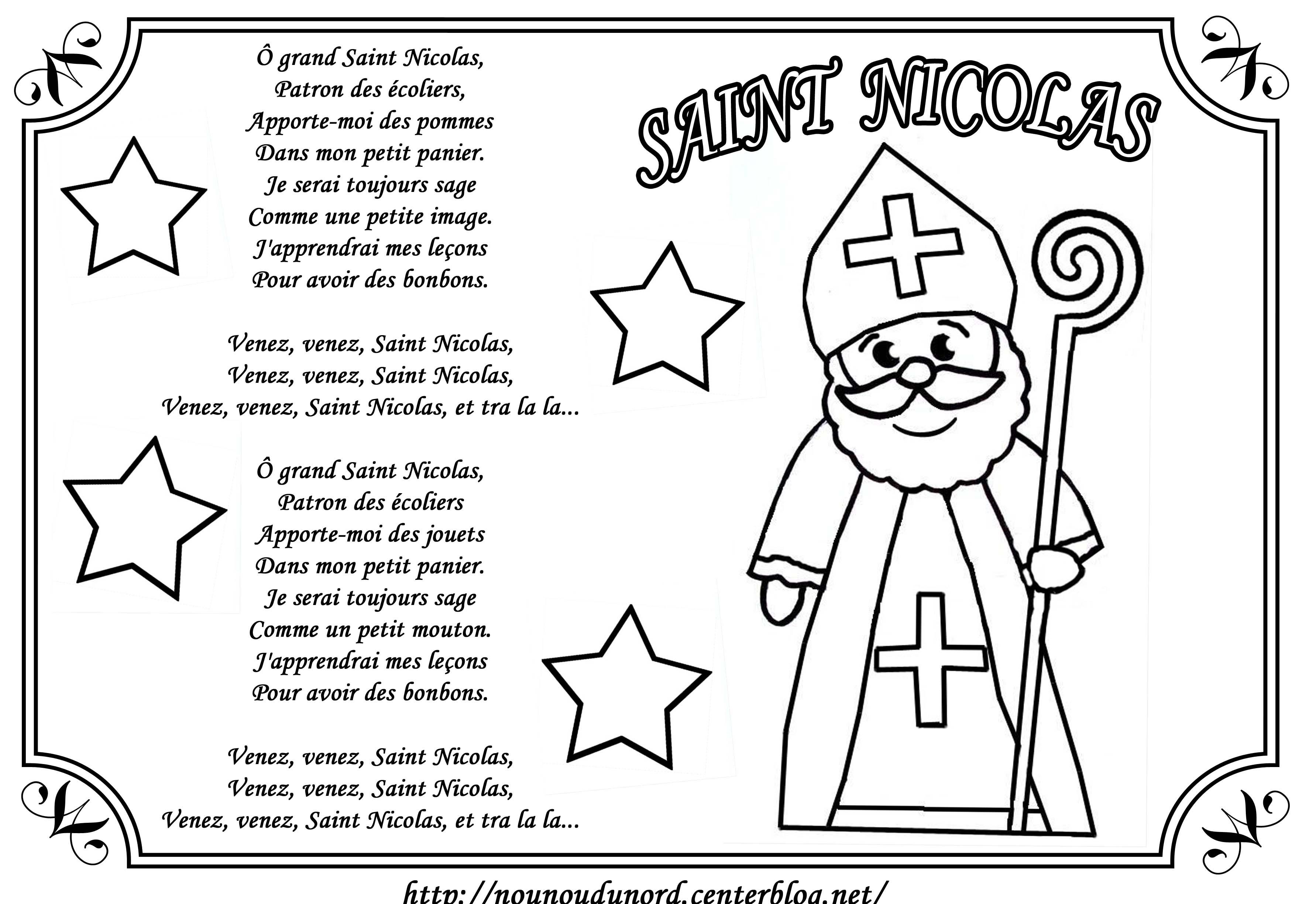 coloriage à dessiner saint nicolas et son ane