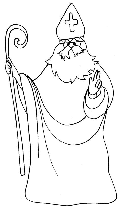 Coloriage Crosse Saint Nicolas