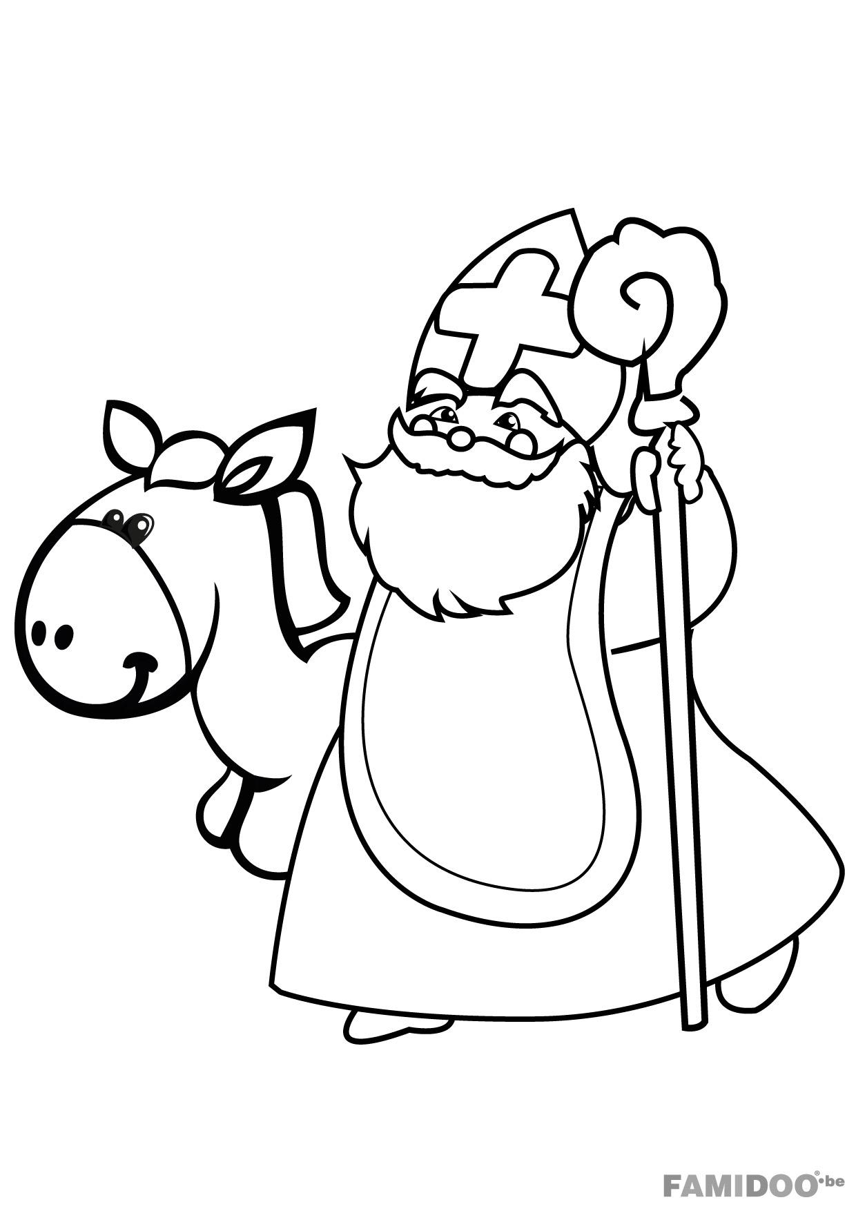 coloriage a dessiner saint nicolas