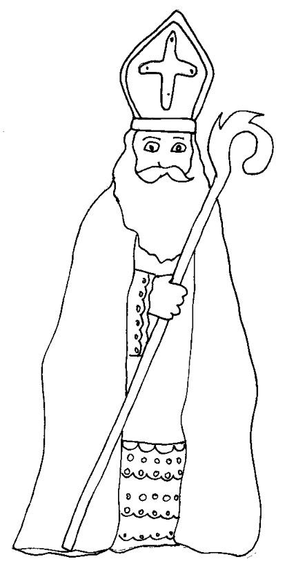 Coloriage dessiner saint nicolas et son ane - Saint nicolas dessin couleur ...
