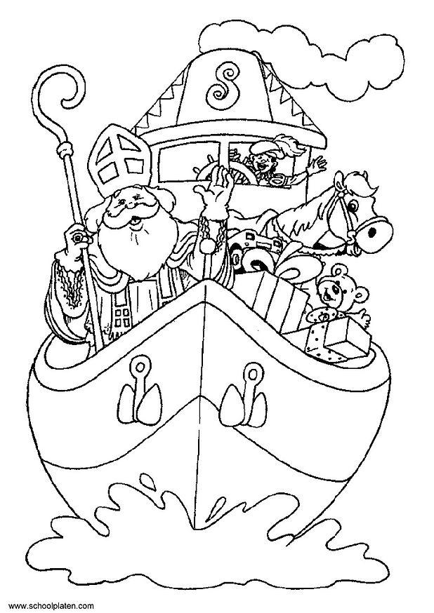 dessin à colorier saint nicolas gratuit