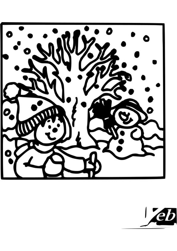 coloriage 4 saisons a imprimer