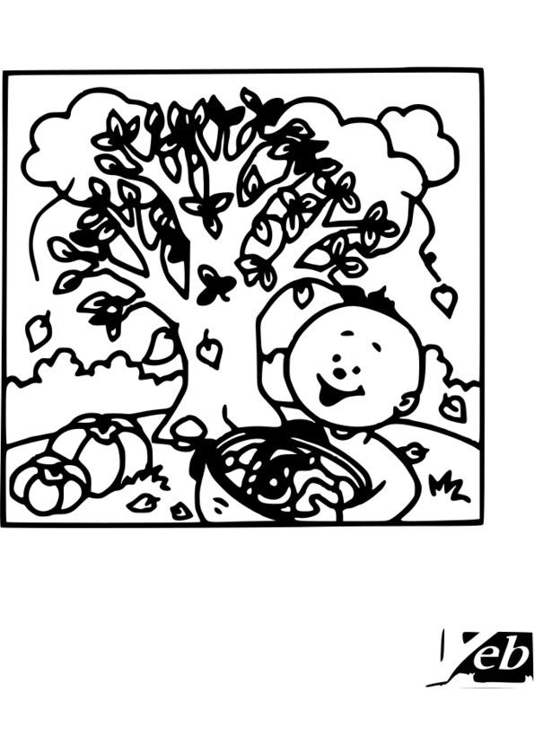 coloriage 4 saisons imprimer