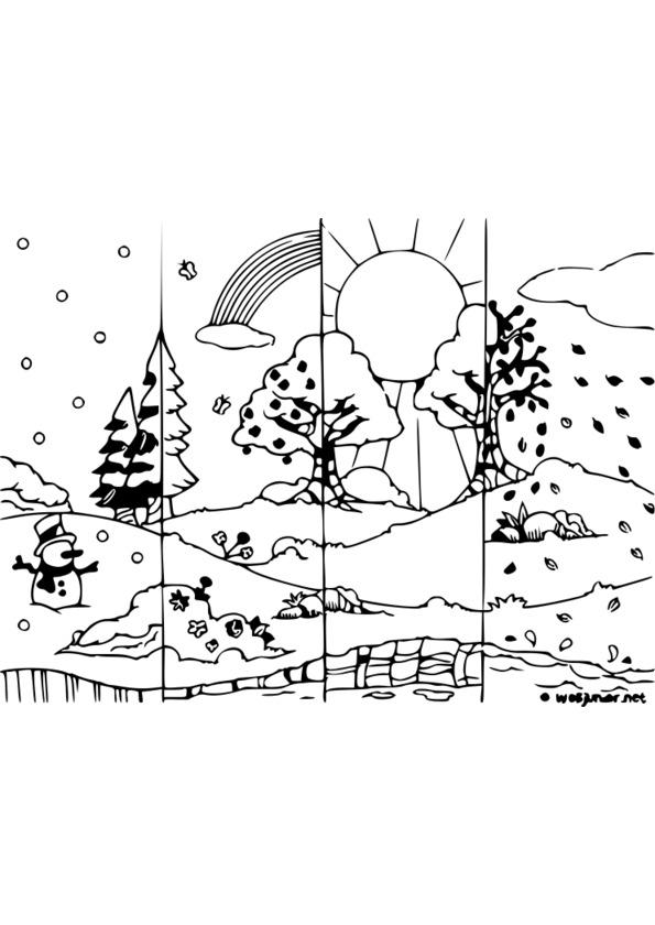 colorier les saisons