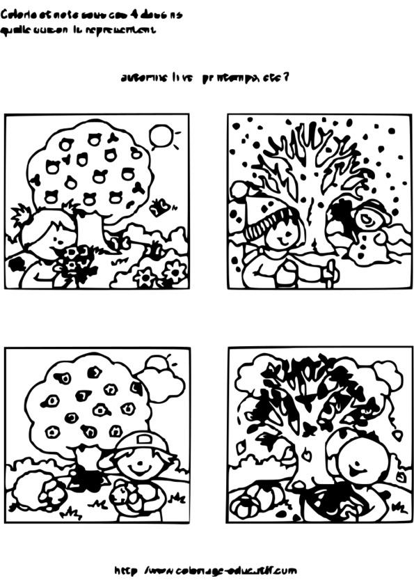 Coloriage fruit de saison - Coloriage saisons a imprimer ...